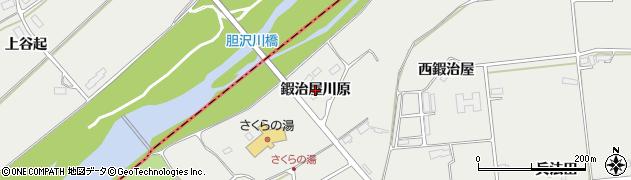 岩手県奥州市水沢佐倉河(鍜治屋川原)周辺の地図