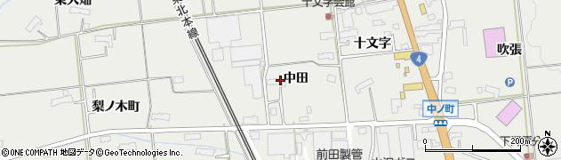 岩手県奥州市水沢佐倉河(中田)周辺の地図