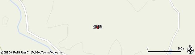 岩手県奥州市江刺伊手(深持)周辺の地図