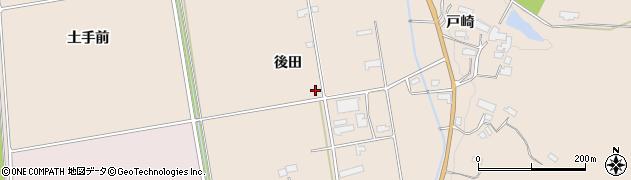 岩手県奥州市江刺田原(後田)周辺の地図