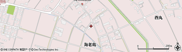岩手県奥州市江刺愛宕(海老島)周辺の地図