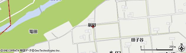 岩手県奥州市水沢佐倉河(崩田)周辺の地図