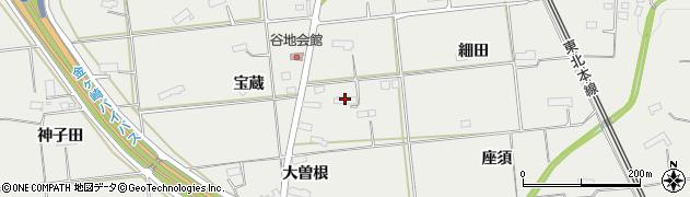 岩手県奥州市水沢佐倉河(竹林田)周辺の地図