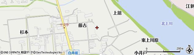 岩手県奥州市水沢佐倉河(藤古)周辺の地図