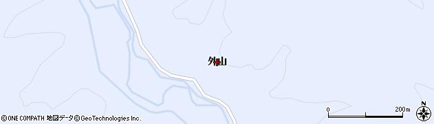 秋田県由利本荘市鳥海町上川内(外山)周辺の地図