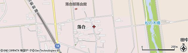 岩手県奥州市江刺愛宕(落合)周辺の地図
