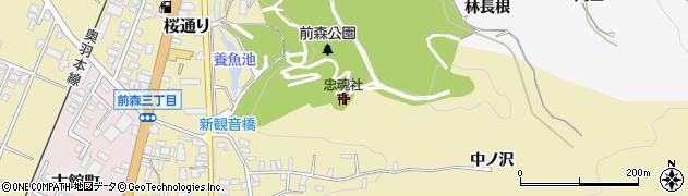 忠魂社周辺の地図