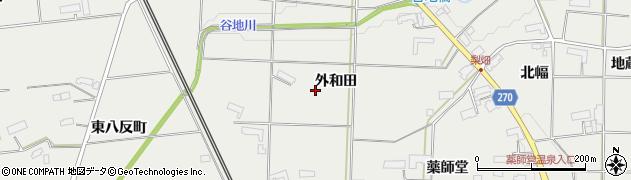 岩手県奥州市水沢佐倉河(外和田)周辺の地図