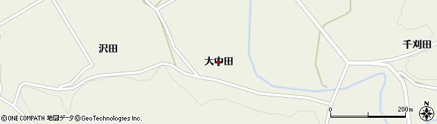 岩手県奥州市江刺伊手(大中田)周辺の地図