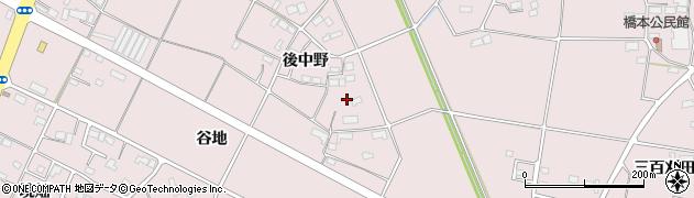 岩手県奥州市江刺愛宕(後中野)周辺の地図