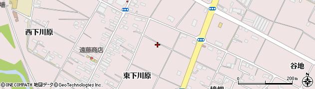 岩手県奥州市江刺愛宕(東下川原)周辺の地図