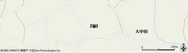 岩手県奥州市江刺伊手(沢田)周辺の地図