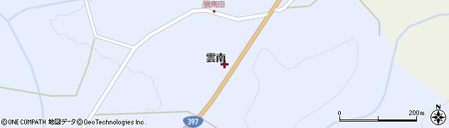 岩手県奥州市江刺藤里(雲南)周辺の地図