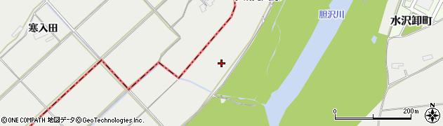 岩手県奥州市水沢佐倉河(下城向川原)周辺の地図