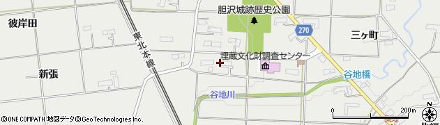 岩手県奥州市水沢佐倉河(九蔵田)周辺の地図