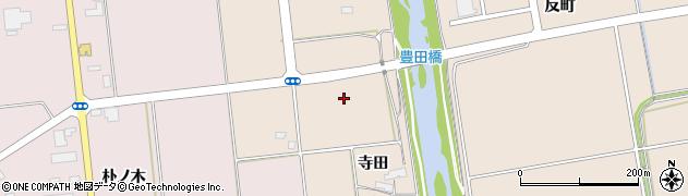 岩手県奥州市江刺岩谷堂(寺田)周辺の地図