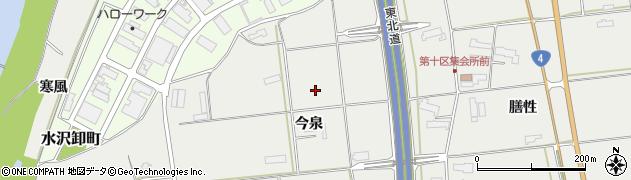 岩手県奥州市水沢佐倉河(今泉)周辺の地図