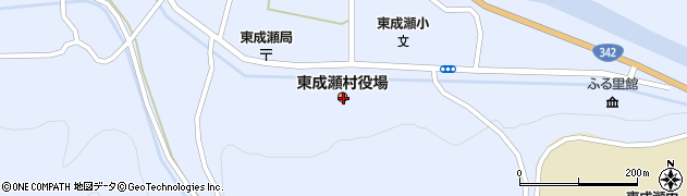 秋田県雄勝郡東成瀬村周辺の地図