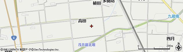 岩手県奥州市水沢佐倉河(高田)周辺の地図