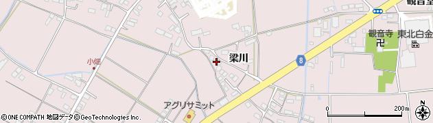 岩手県奥州市江刺愛宕(梁川)周辺の地図