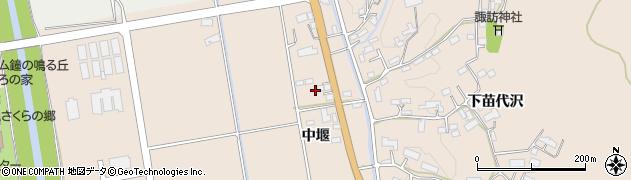 岩手県奥州市江刺岩谷堂(中堰)周辺の地図