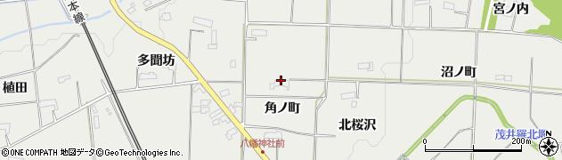 岩手県奥州市水沢佐倉河(角ノ町)周辺の地図