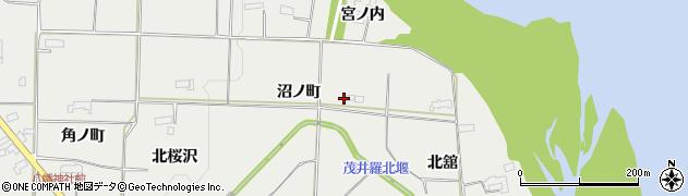 岩手県奥州市水沢佐倉河(沼ノ町)周辺の地図