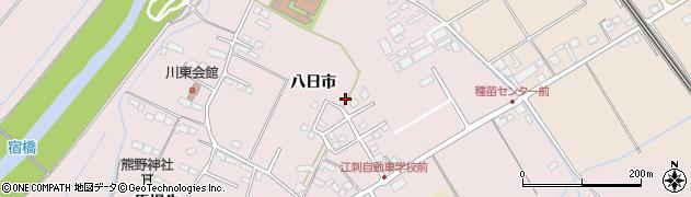 岩手県奥州市江刺愛宕(八日市)周辺の地図