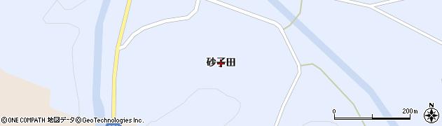 岩手県奥州市江刺藤里(砂子田)周辺の地図