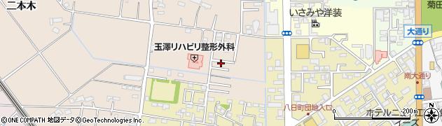 岩手県奥州市江刺岩谷堂(二本木)周辺の地図