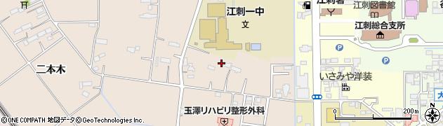岩手県奥州市江刺岩谷堂(小境)周辺の地図