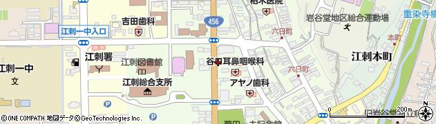 岩手県奥州市江刺大通り周辺の地図