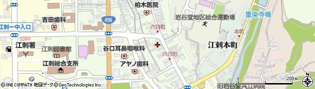 岩手県奥州市江刺六日町周辺の地図