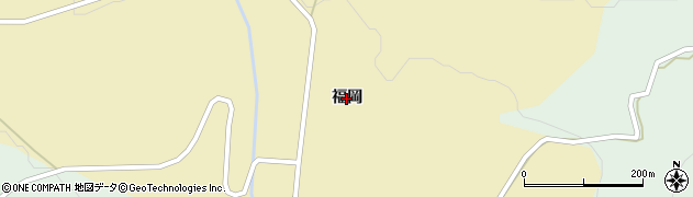 秋田県由利本荘市鳥海町下川内(福岡)周辺の地図