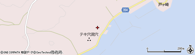 山形県酒田市飛島中村甲28周辺の地図
