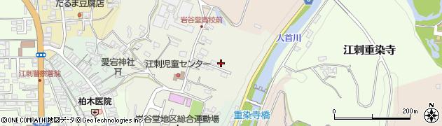 岩手県奥州市江刺館山周辺の地図