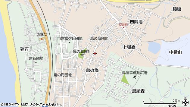〒018-0132 秋田県にかほ市象潟町鳥の海の地図