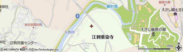 岩手県奥州市江刺重染寺周辺の地図
