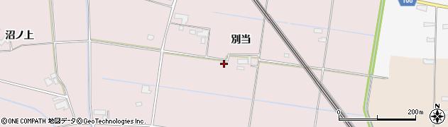 岩手県奥州市江刺愛宕(別当)周辺の地図