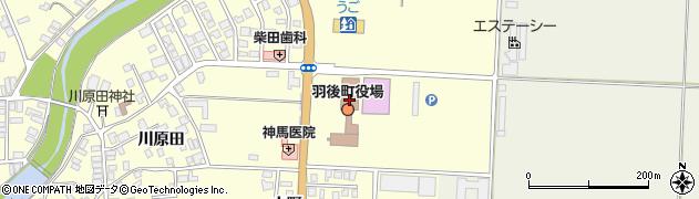 秋田県雄勝郡羽後町周辺の地図