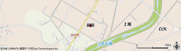 岩手県奥州市江刺岩谷堂(前田)周辺の地図