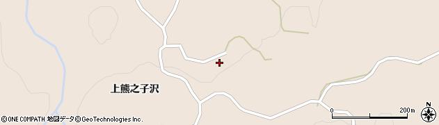 秋田県由利本荘市矢島町荒沢(下熊之子沢)周辺の地図