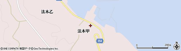 山形県酒田市飛島法木甲83周辺の地図