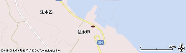 山形県酒田市飛島法木甲80周辺の地図