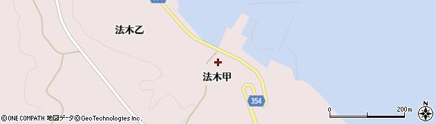 山形県酒田市飛島法木甲88周辺の地図