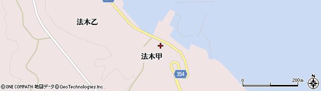 山形県酒田市飛島法木甲84周辺の地図