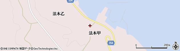 山形県酒田市飛島法木乙193周辺の地図