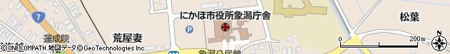 秋田県にかほ市周辺の地図
