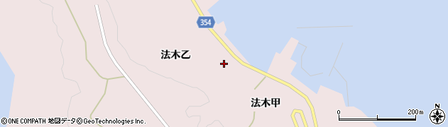 山形県酒田市飛島法木乙205周辺の地図
