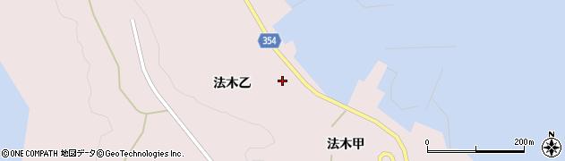 山形県酒田市飛島法木乙217周辺の地図